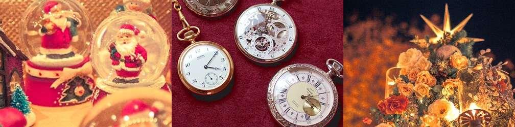 クリスマスイメージ 懐中時計