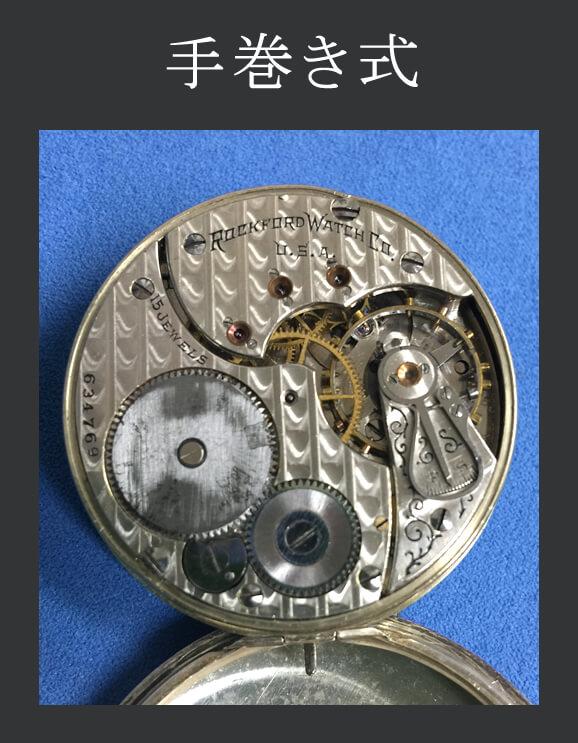 手巻き式懐中時計 ムーブメントイメージ