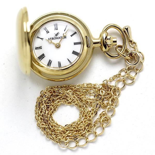 AERO(アエロ) ペンダントウォッチ 30816JA01 ローマン数字 懐中時計