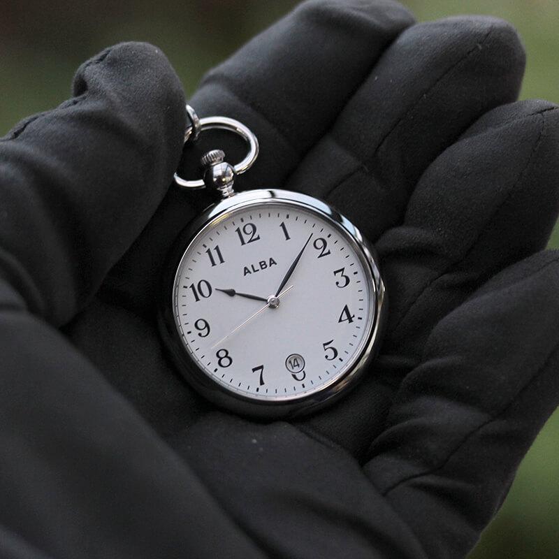 newest a58e3 d4999 セイコー アルバ aqgk447 ALBA 懐中時計