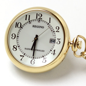 シチズン(CITIZEN) レグノ ソーラー電波 懐中時計  KL7-922-31 ゴールドカラー